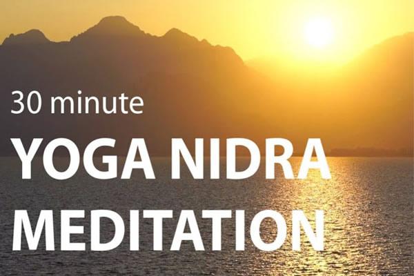 30 minute yoga nidra meditation logo